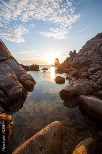 Fototapeta Tramonto a Capo Testa - Sardegna