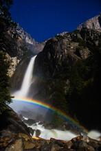 Moonbow At Lower Yosemite Falls