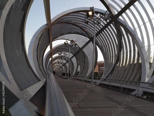 Puente de Arganzuela en el rio Manzanares de Madrid,España