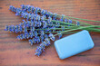 canvas print picture - Lavendel und Lavendelseife