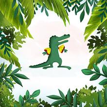 Crocodile In The Jungle