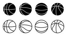 Basketball Icon Set. Basketball Ball Icon. Basketball Logo Vector Icon