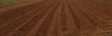 field dug soil  milled in spring season   plowed field