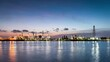 Time-Lapse Landscape, morning light oil refinery Along the Chao Phraya River