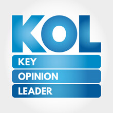 KOL - Key Opinion Leader Acronym, Business Concept Background