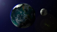 Earth Turn Into One Dollar Sphere