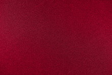 Rich Red Background Color. One-color Texture With A Small Noisy Glitter. Copy Space