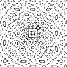 Geometric Vector Mandala With Triangular Elements. Abstract Ornament For Wallpapers And Backgrounds. Black And White Colors.