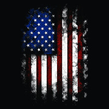 American Distressed Flag It Can Be Used For Merchandise, Digital Printing, Screen-printing Or T-shirt Etc.