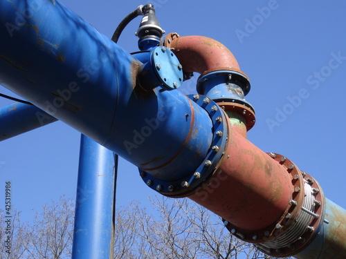 Foto Behelfsleitung für Abwasser