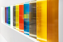 Colored Polycarbonate Sheets On Exhibition In Store