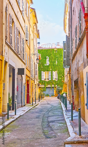 Fotografering The Rue Loubon street in old town of Aix-en-Provence, France