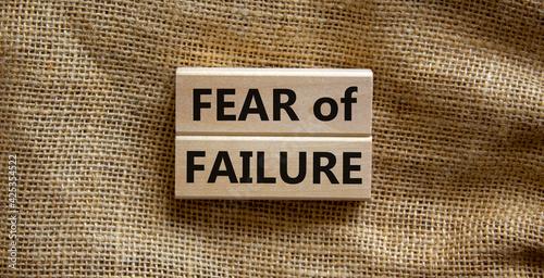 Fototapeta Fear of failure symbol