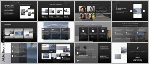 Canvas Print Bundle of editable business templates for digital app, web products