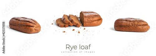 Fotografie, Obraz Rye loaf isolated on a white background.