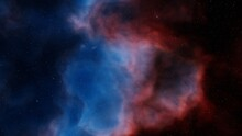 Nebula In Deep Space, Magic Color Galaxy, Infinite Universe And Starry Night. 3d Render