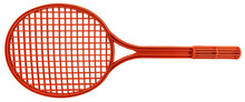 Plastic Racket Toy For Sports And Leisure Activities Isolate Don White Background