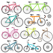 Vector Set Of Bicycles