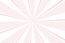 水玉ドットと放射線パステル背景 Radial Abstract Background Ray With Polka Dot