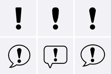 Icon Risk, Warn And Alert Icons Set.
