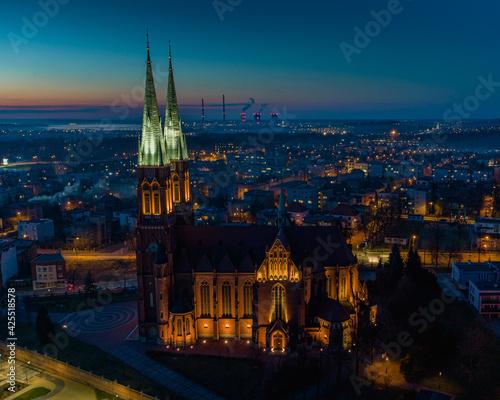 Fototapeta Blue hour in Rybnik