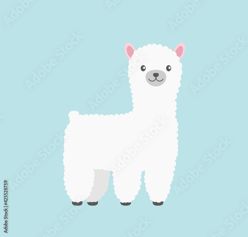 Fototapeta premium llama animal icon