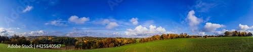 Obraz Jesienna panorama kaszub - fototapety do salonu
