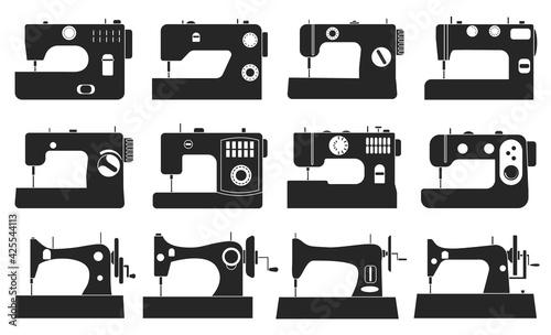 Fotografia, Obraz Sewing machine vector illustration on white background