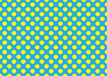 Yellow Circles On A Blue Background.... Seamless Texture. For Gift Paper And Fabrics.