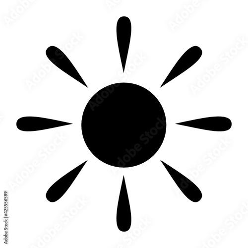 Fototapeta słońce ikona obraz