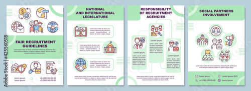 Valokuva Fair recruitment guidelines brochure template