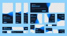 Abstract Banner Design Web Template Set, Horizontal Header Web Banner. Modern Red Cover Header Background For Website Design, Social Media Cover Ads Banner, Flyer, Invitation Card