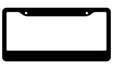 License Plate Frame Silhouette Icon. Clipart Image Isolated On White Background