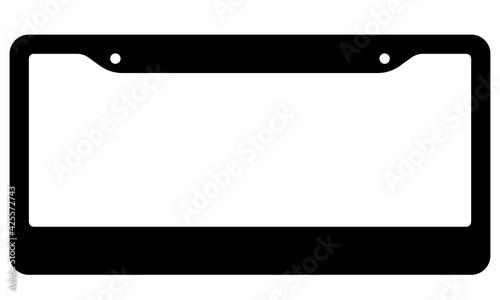 Obraz na plátně License plate frame silhouette icon