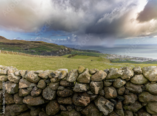 Fotografie, Obraz A sea squall in the Irish Sea offshore from Carnlough, Causeway coastal route, G