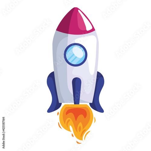 Obraz rocket startup vehicle - fototapety do salonu