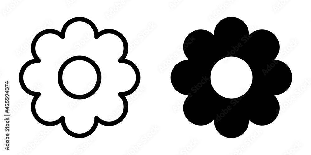 Fototapeta kwiat ikona
