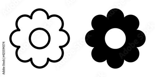 Fototapeta kwiat ikona obraz