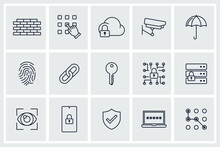 Set Of Security Icon. Security Pack Symbol Template For Graphic And Web Design Collection Logo Vector Illustration