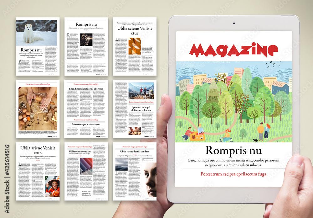 Fototapeta Digital Magazine Layout