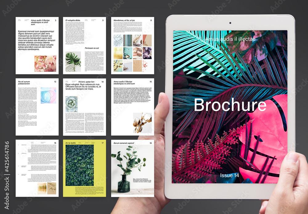Fototapeta Modern and Timeless Digital Brochure Layout