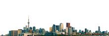Cityscape Of Toronto (Ontario, Canada) Isolated On White Background