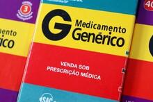 Medicamento Genérico. Venda Sob Prescrição Médica. Caixas De Remédio Do Brasil.