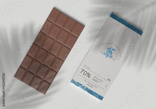 Obraz Wrapped Chocolate Bar Mockup - fototapety do salonu