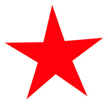 Star V2 Icon With Flat Style. Isolated Raster Star V2 Icon Image On A White Background.