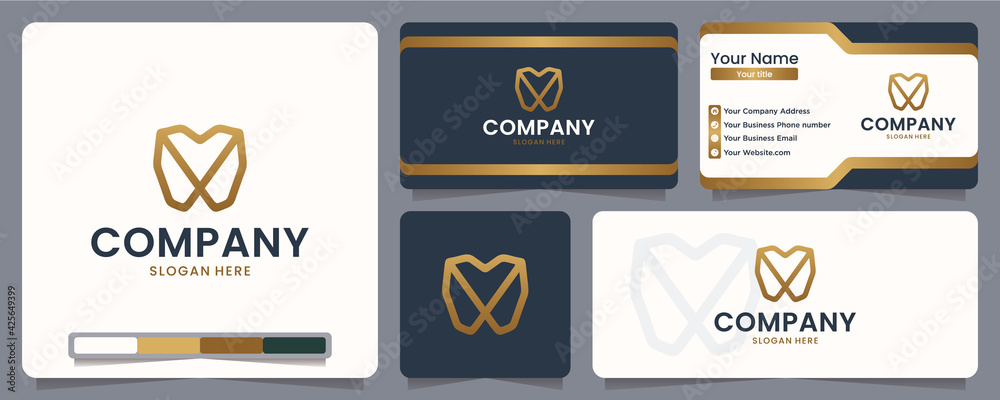 Fototapeta dental , clean , logo design and business card
