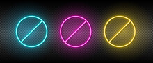 Blade, Pin, Screw Vector Icon Yellow, Pink, Blue Neon Set. Tools Vector Icon