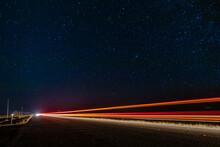 Night Trails In Marfa Texas