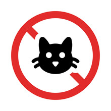 No Cats Allowed Sign Illustration.