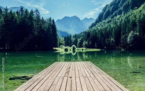 Fotografija lakeside shore lake landscape mountain water river mountains forest park boathou